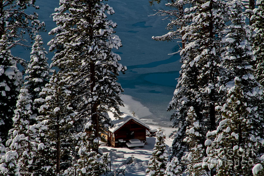 Cascade Lake Photograph - Cabin In The Woods by Mitch Shindelbower