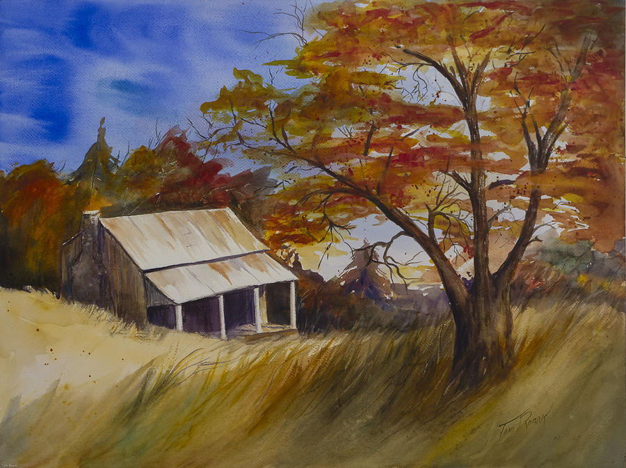 Cabin In The Woods Painting By Toni Roark
