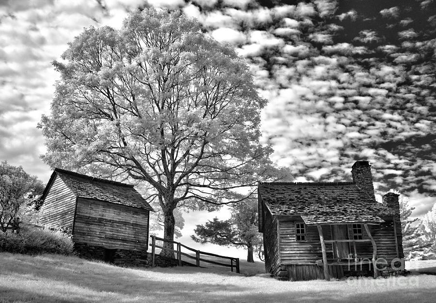 North Carolina Photograph - Cabin Under Buttermilk Skies I by Dan Carmichael
