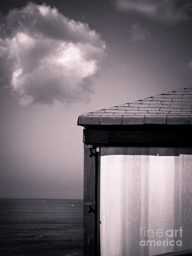 Black And White Photograph - Cabin With Cloud by Silvia Ganora