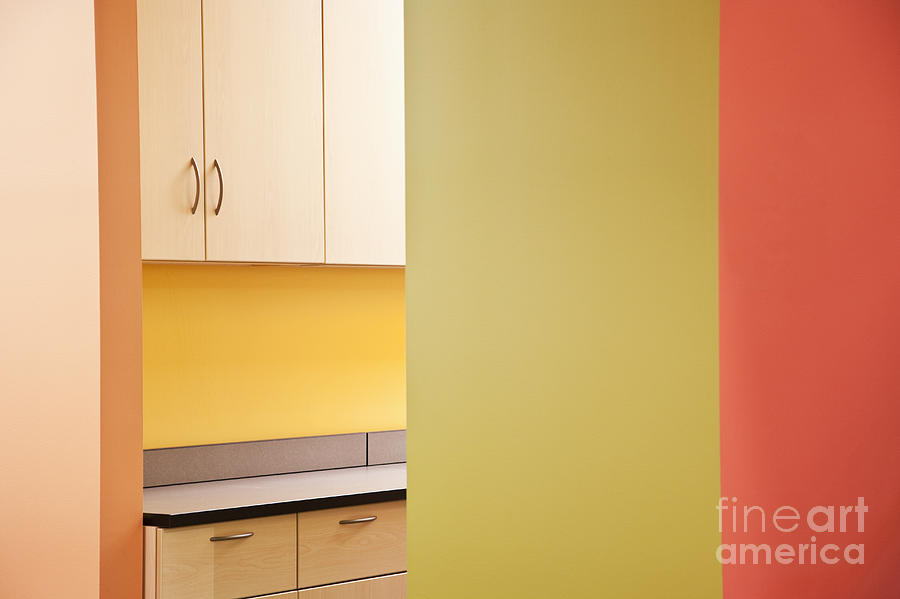 Architecture Photograph - Cabinets In An Office Supply Room by Jetta Productions, Inc