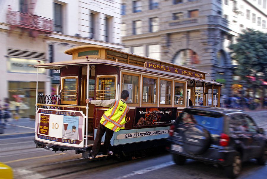 California Photograph - Cable Car by Rod Jones