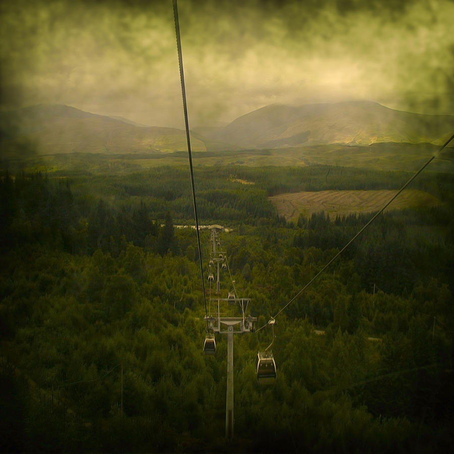 Abstract Photograph - Cable Cars by Svetlana Sewell