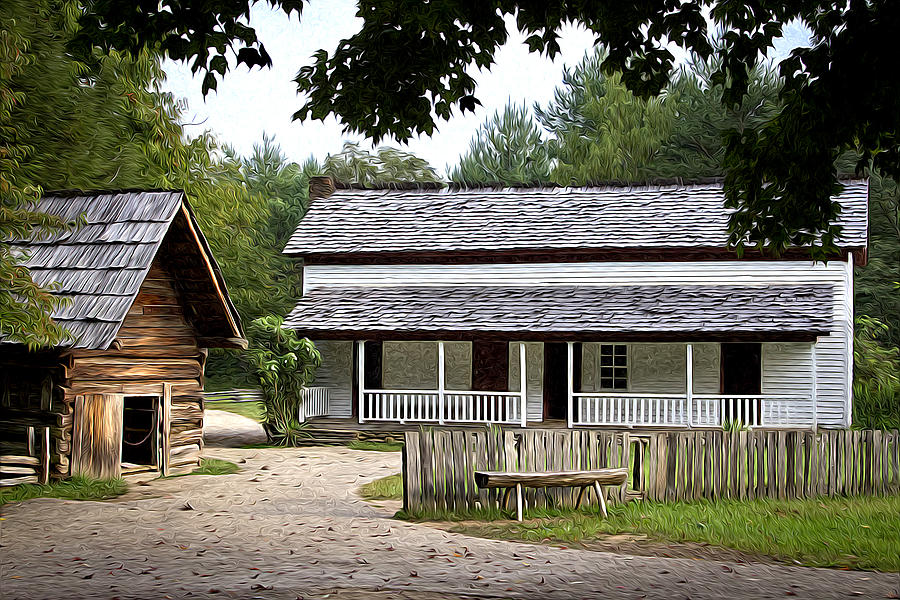 Cades Cove Photograph - Cable Mill Home Place Cades Cove by Mike Aldridge