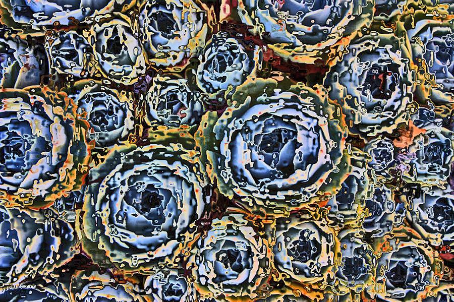 Cactus Digital Art - Cactus Blues by Yvonne Scott
