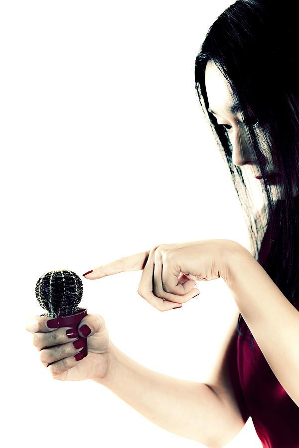 Finger Photograph - Cactus by Joana Kruse