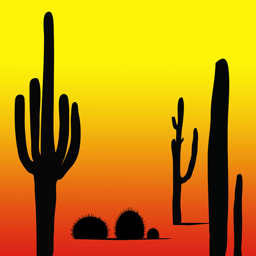 Cactus Digital Art by Jessica Rost