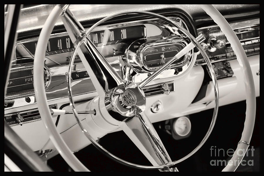 Car Photograph - Cadillac Control Panel by Miso Jovicic