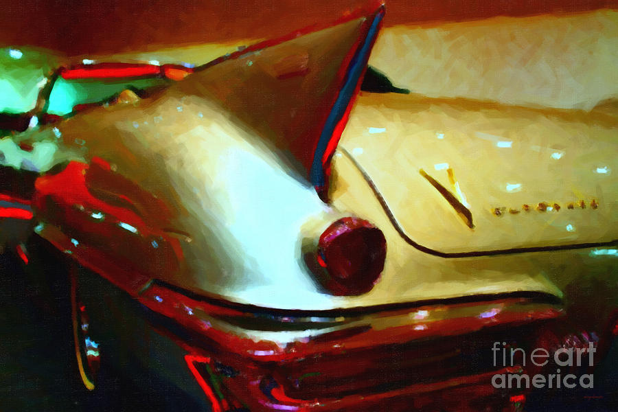 Transportation Photograph - Cadillac Eldorado . Painterly Style by Wingsdomain Art and Photography