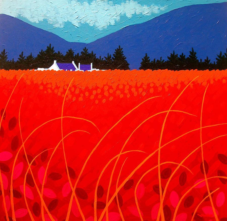 Ireland Painting - Cadmium Landscape by John  Nolan