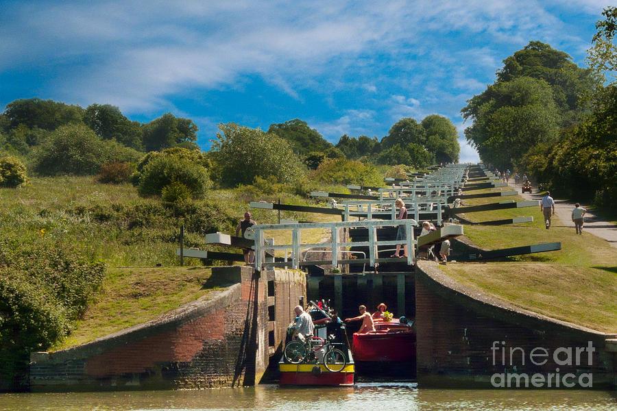 Caen Hill Photograph - Caen Hill Locks by John Basford