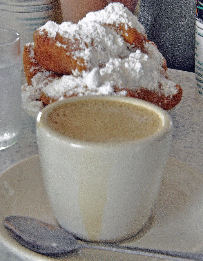 New Orleans Photograph - Cafe Au Lait And Beignets by Helen Haw