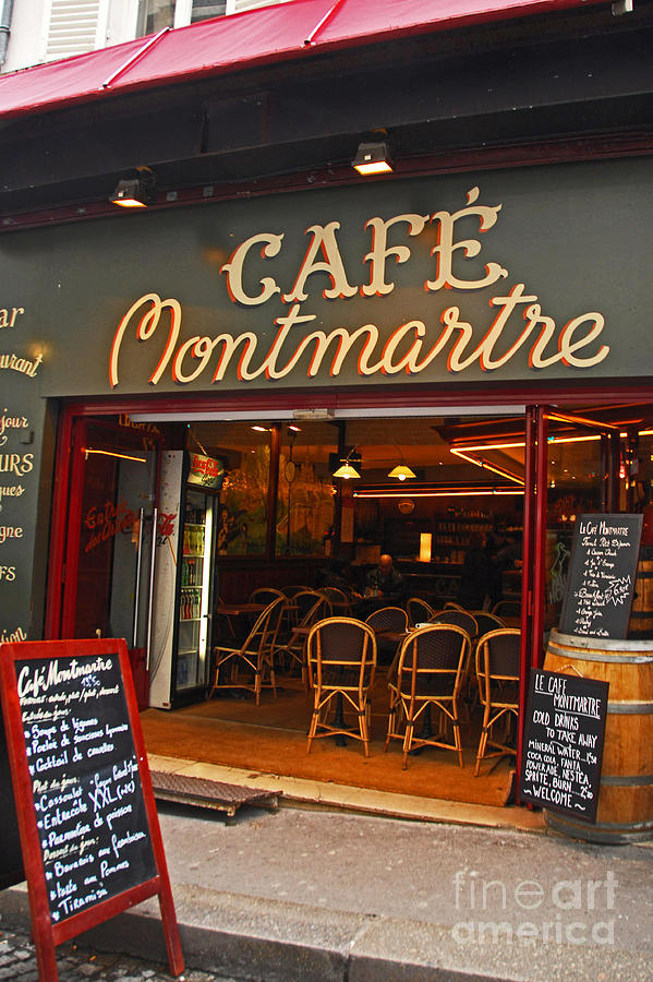 Cafe Photograph - Cafe Montmartre by Bob and Nancy Kendrick