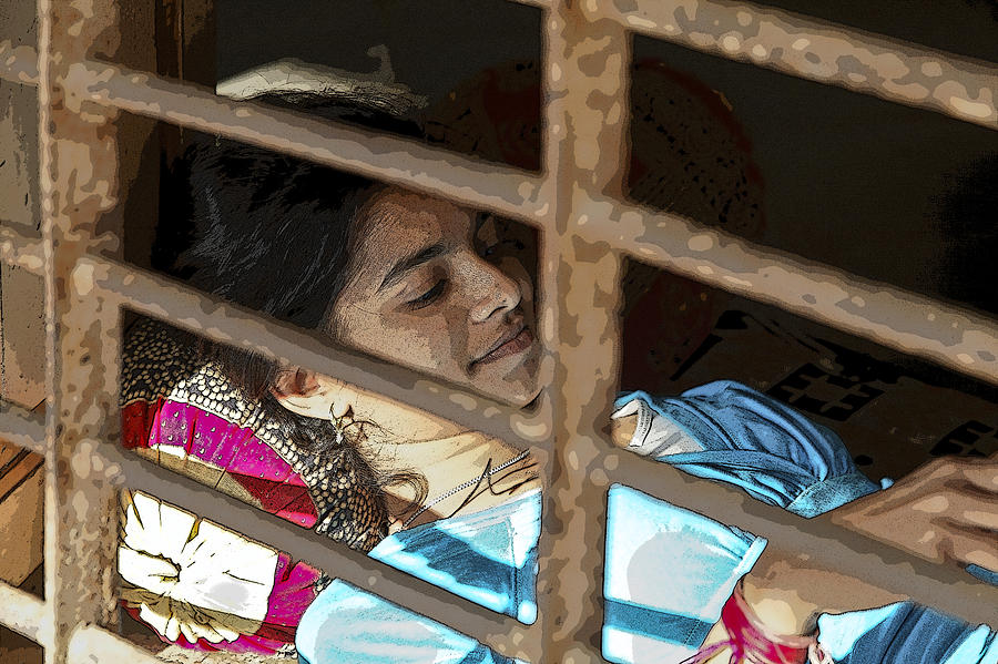 Interesting Photograph - Caged Indian Beauty by Kantilal Patel