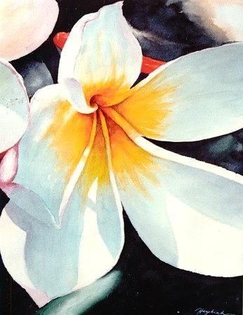 Flower Painting - Calachuchi by Hezekiah Lopez