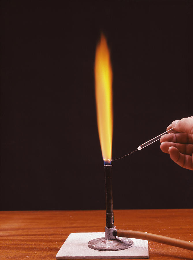 Calcium Photograph - Calcium Flame Test by Andrew Lambert Photography