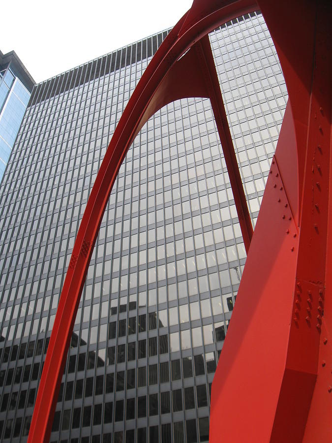 Chicago Calder Sculpture Photograph - Calder -2 by Todd Sherlock