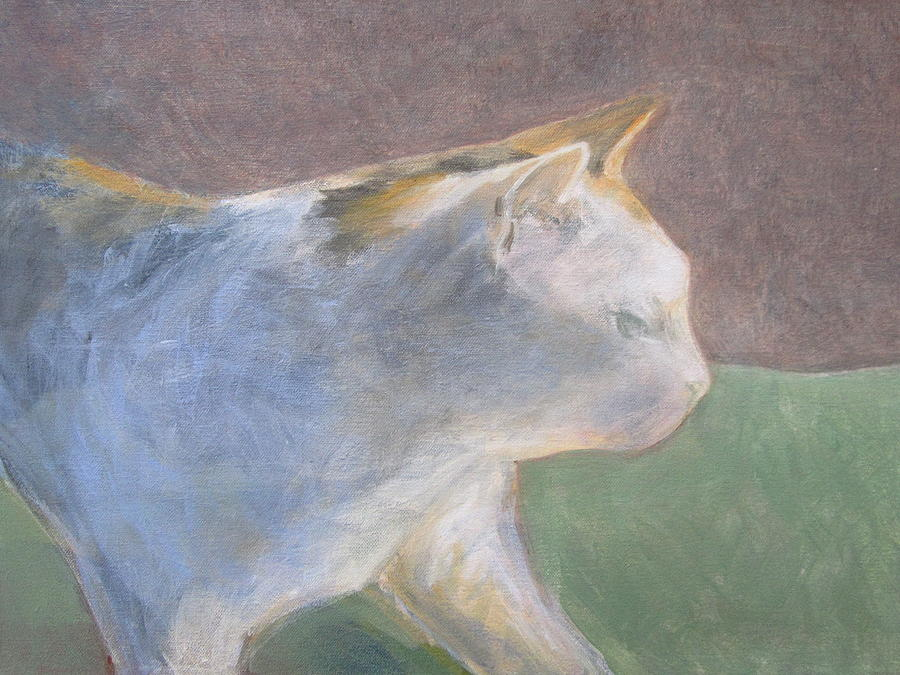Calico Painting - Calico Walking by Kazumi Whitemoon