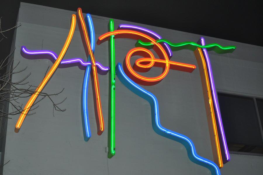 Art Neon Photograph - California Art by Todd Sherlock