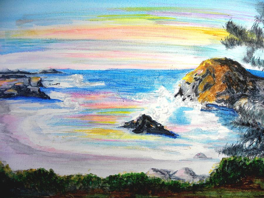 California Coast Painting - California Coast by Susan  Clark