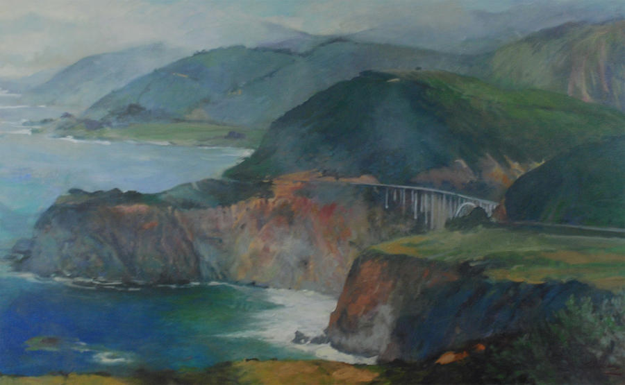 California Painting - California Coastline by Marilyn Muller