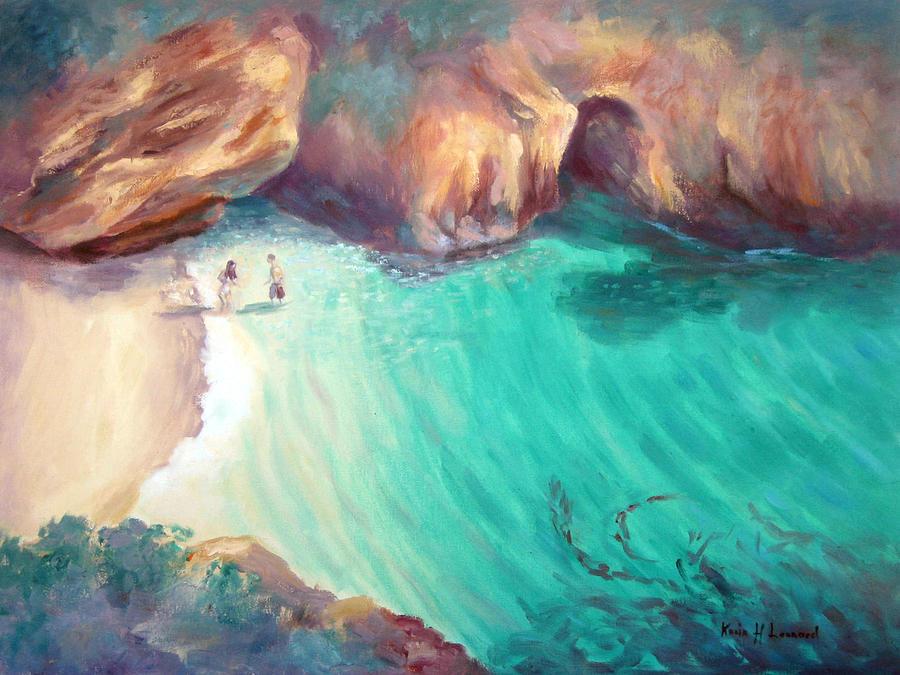 Romantic Ocean Painting Painting - California Dreaming by Karin  Leonard