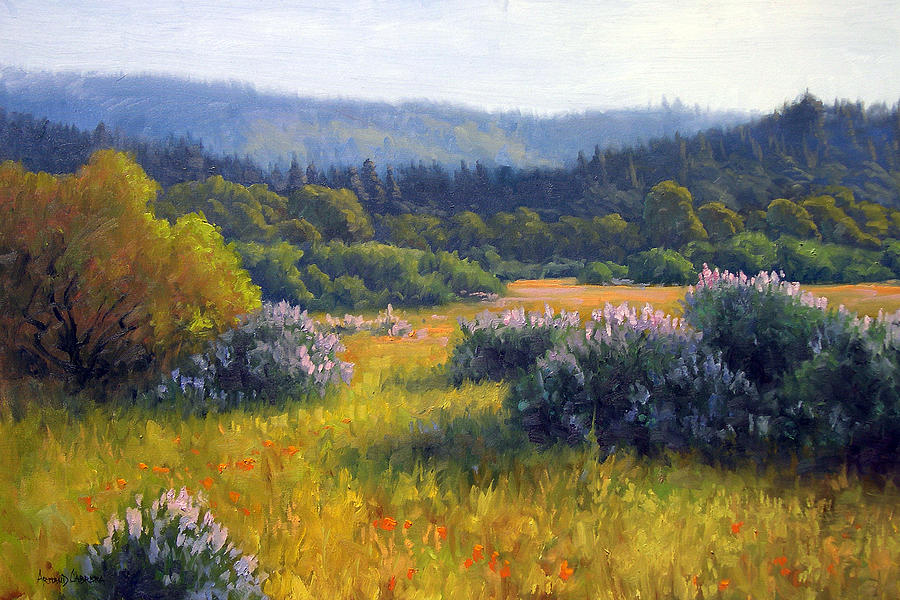 California Spring Painting By Armand Cabrera