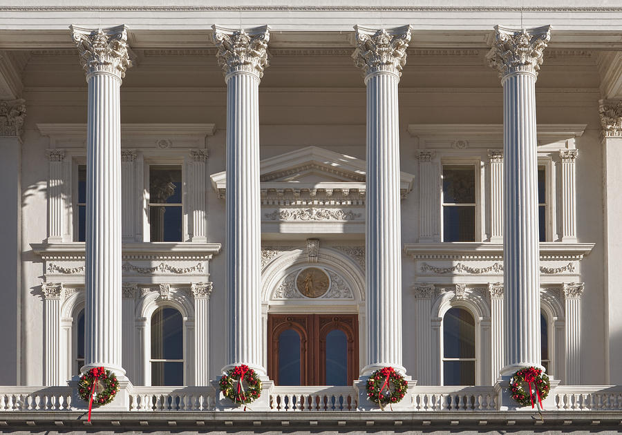 The Past Photograph - California State Capitol Building by Bryan Mullennix