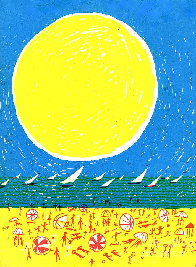 California Drawing - California Sun by Donovan OMalley