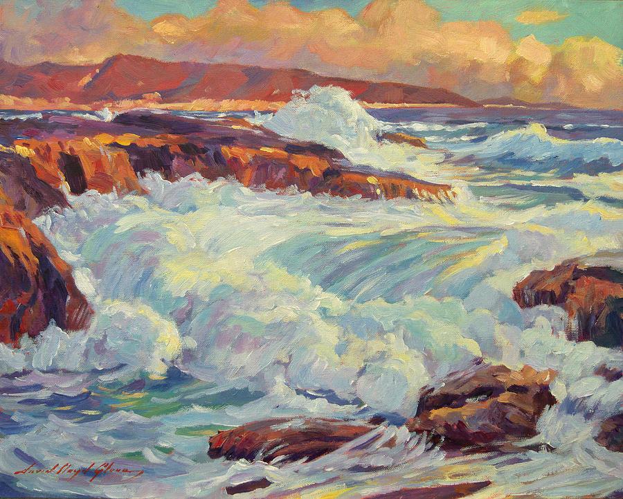 Seascape Painting - Californias Coastline by David Lloyd Glover
