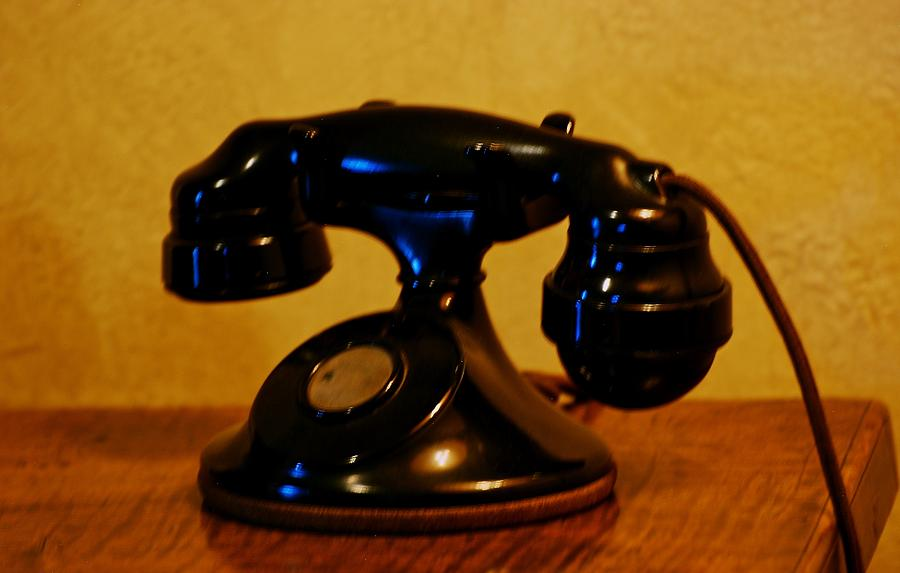 Telephone Photograph - Call Me by Eric Tressler