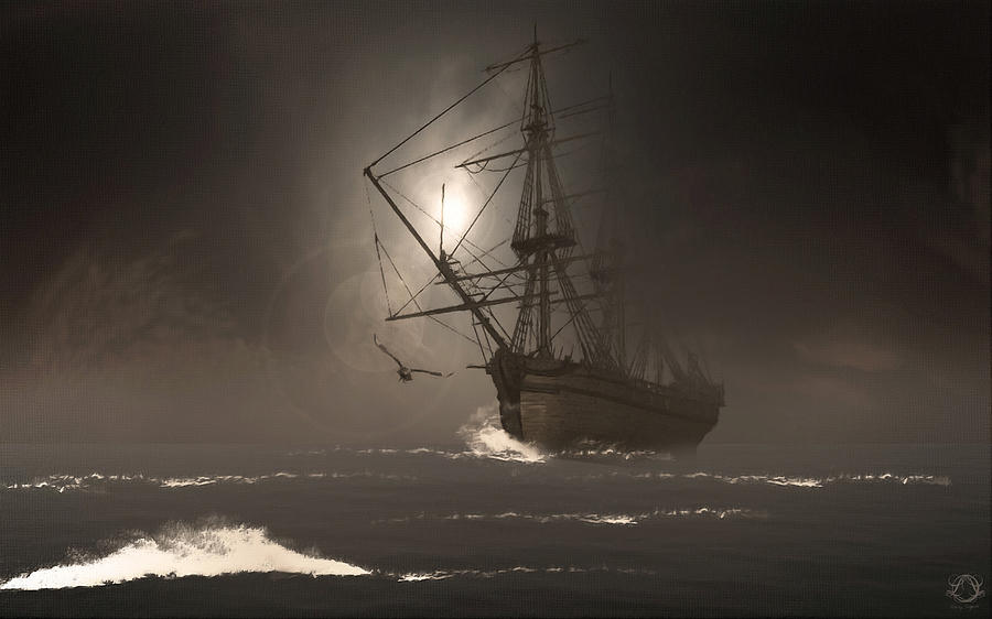 Ghostship Photograph - Call Of The Hoot by Lourry Legarde
