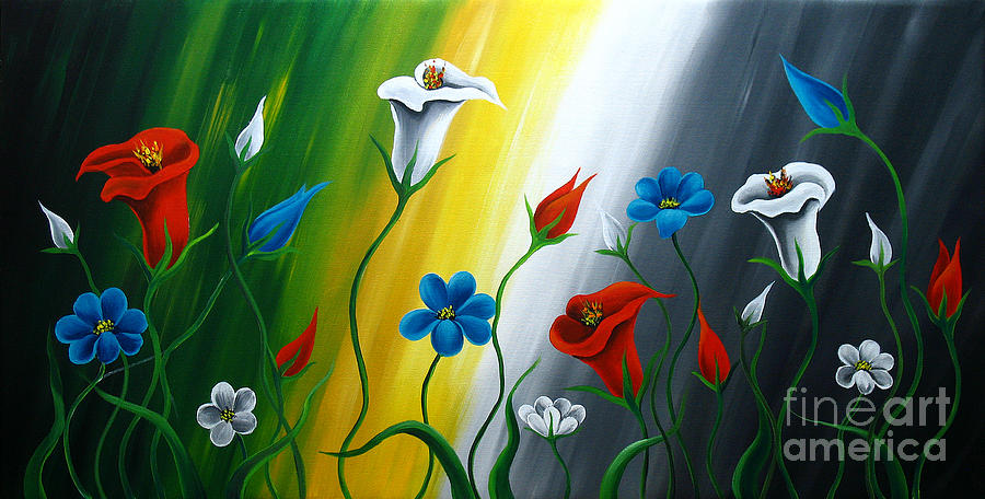Calla Lilies Painting - Calla Lilies by Uma Devi