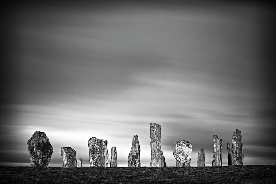 Horizontal Photograph - Callanish Standing Stones by Doug Chinnery