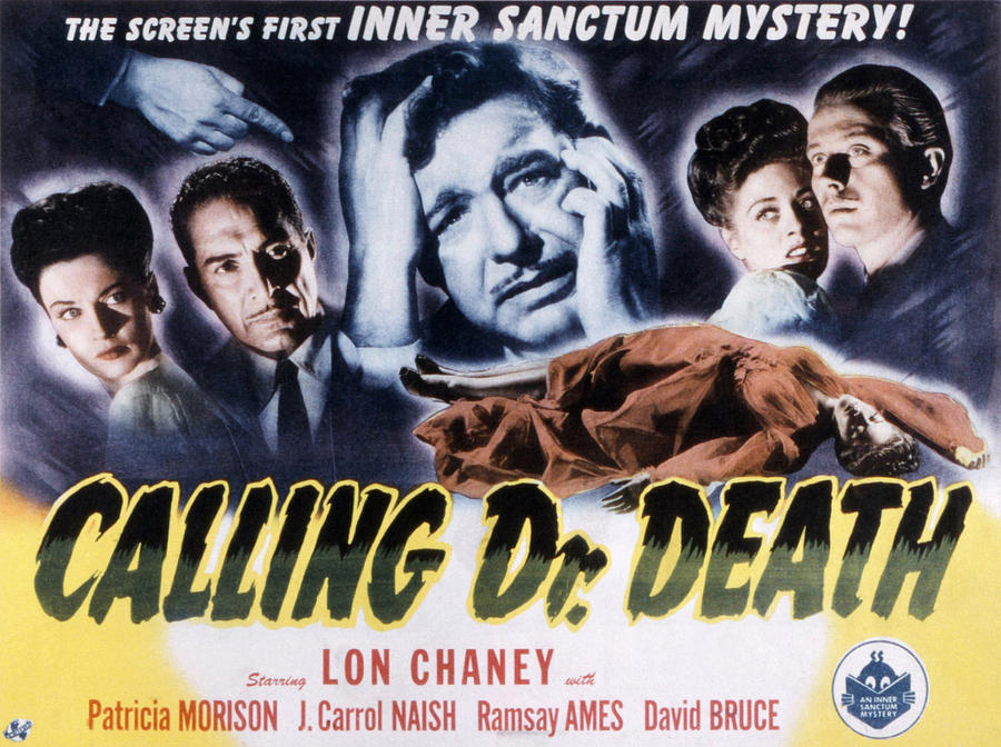 1940s Movies Photograph - Calling Dr. Death, Patricia Morison, J by Everett