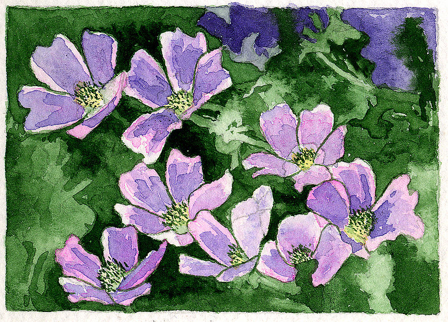 Flowers Painting - Callirhoe by Eunice Olson