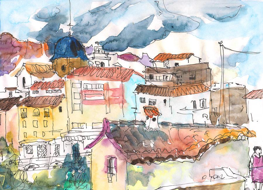 Travel Painting - Callosa De Ensarria 02 by Miki De Goodaboom