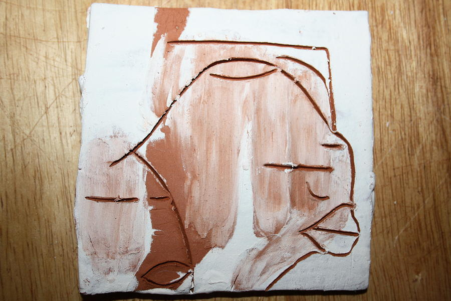 Jesus Painting - Calm - Tile by Gloria Ssali
