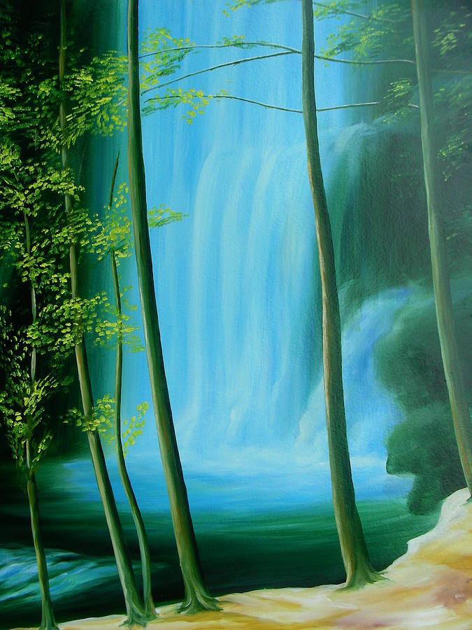 Landscape Painting - Calm by Istvan Patko