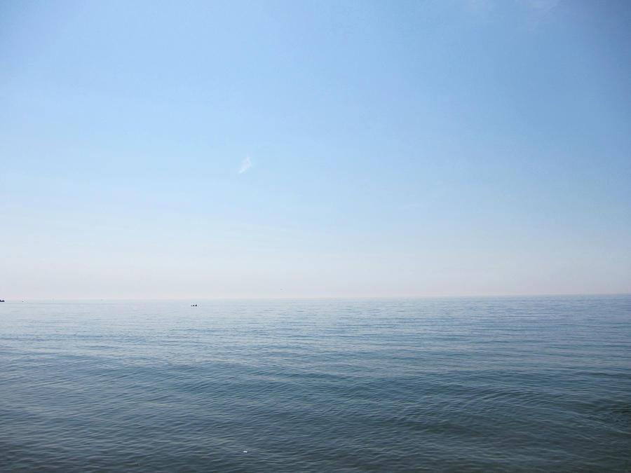 Horizontal Photograph - Calm Sea by Sabine Davis