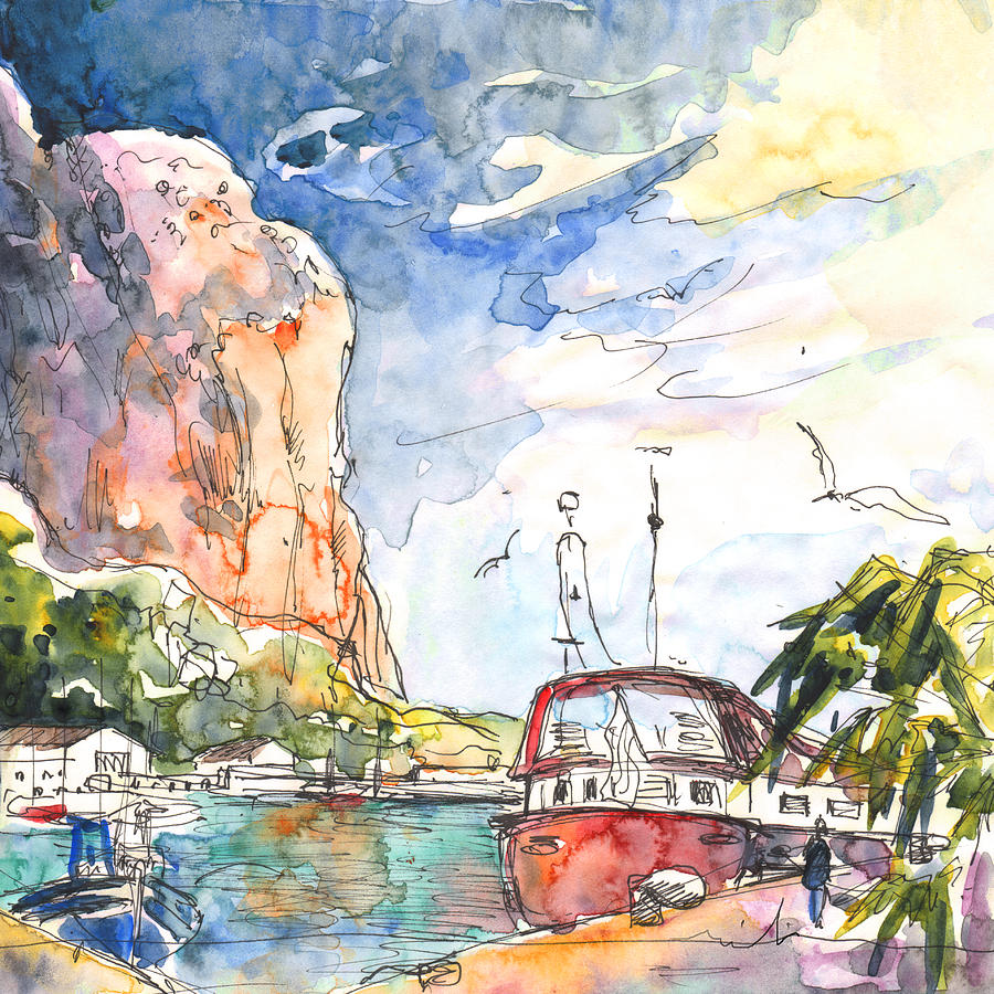 Calpe Harbour 04 Painting