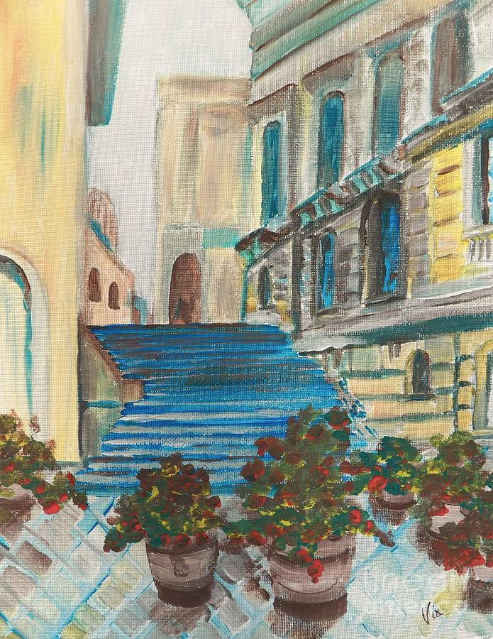 Sicily Painting - Caltanissetta  by Judy Via-Wolff