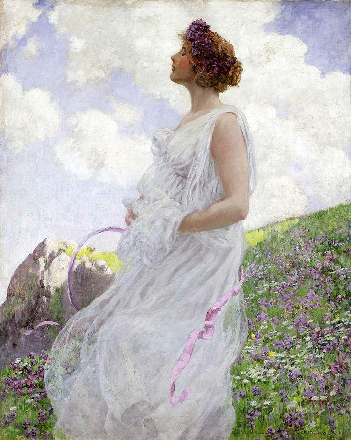 Female Painting - Calypso by George Hitchcock