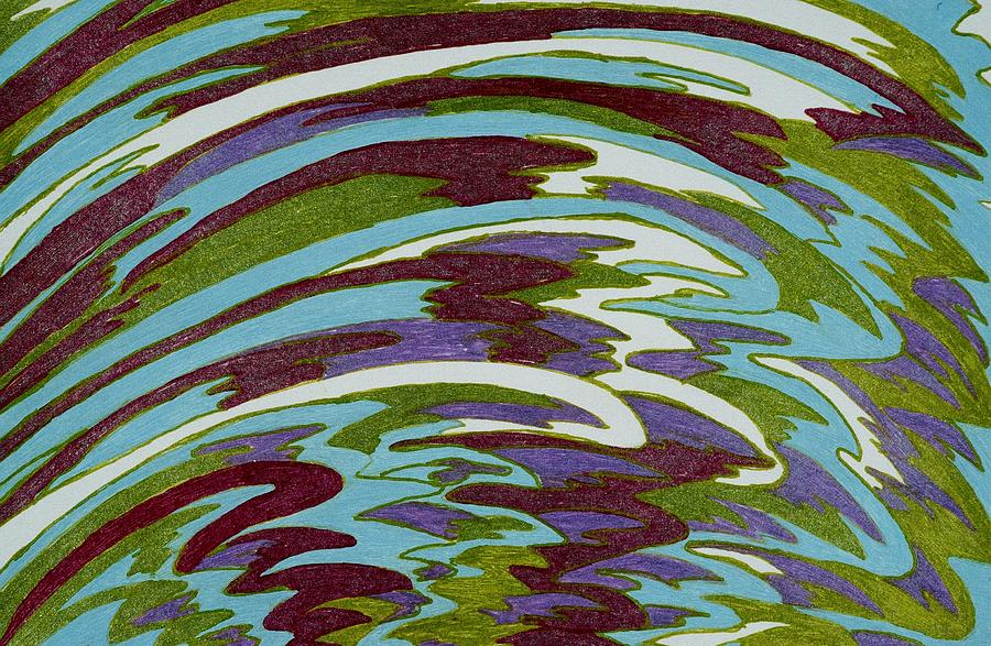 Wave Drawing - Calypso by Lesa Weller