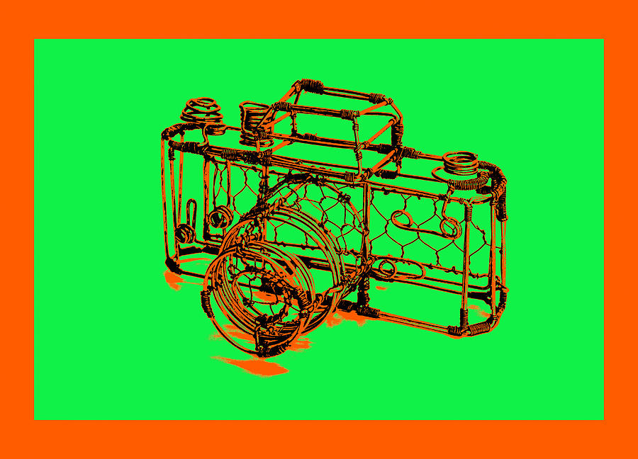 Framed Pyrography - Camera 1c by Mauro Celotti