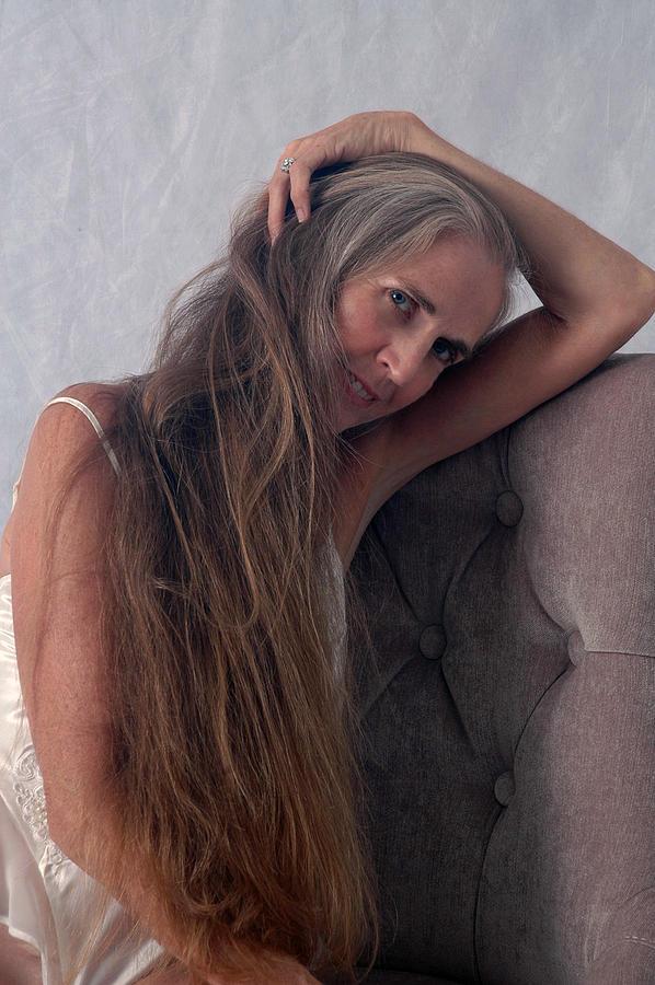 Portrait Photograph - Camera Shy by Nancy Taylor