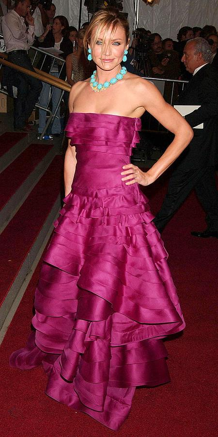 The ''poiret King Of Fashion'' Metropolitan Museum Of Art Costu Photograph - Cameron Diaz Wearing A Dior Gown by Everett
