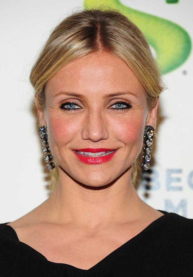 Cameron Diaz Photograph - Cameron Diaz Wearing Lanvin Earrings by Everett