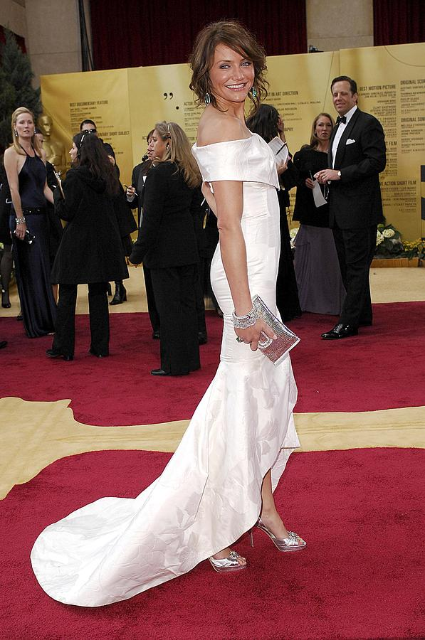 Oscars 79th Annual Academy Awards - Arrivals Photograph - Cameron Diaz Wearing Valentino Couture by Everett