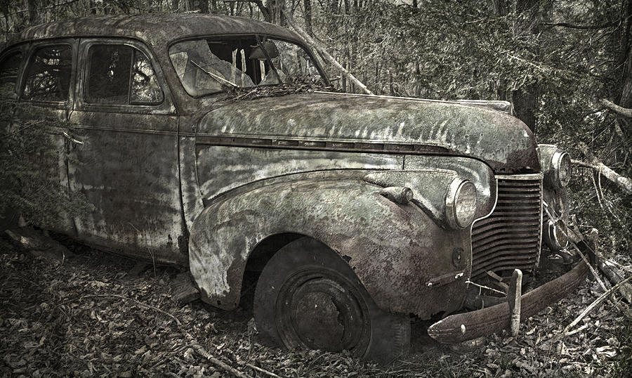 Car Photograph - Camouflage Classic Car by John Stephens